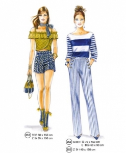 302-05 knit top and pants sewing pattern