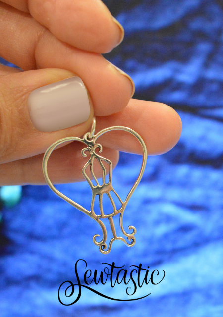 dress form pendentif jewerly sterling silver ,925
