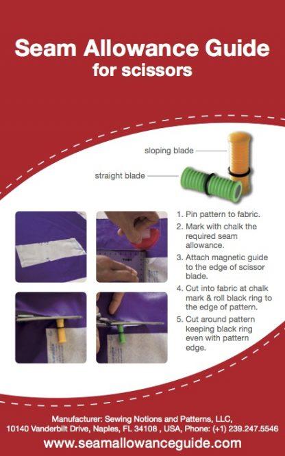 Guia para margen de costuras instrucciones